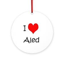 I love Aled Ornament (Round)