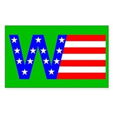 W Flag Rectangle Decal