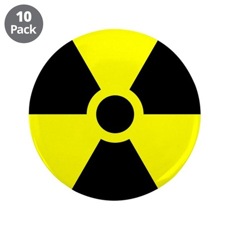 """Radioactive 3.5"""" Button (10 pack)"""