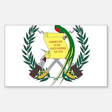 Guatemalan Coat of Arms Rectangle Decal