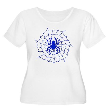 Halloween Spider Women's Plus Size Scoop Neck T-Sh