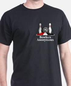 Bowlers Anonymous Logo 15 T-Shirt Design Fron