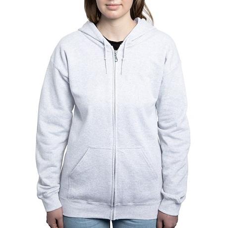Apha Omega Logo 7 Women's Zip Hoodie Back Only