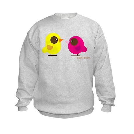 """""""2 Birds"""" Kids Sweatshirt"""