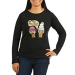 Cool Ice Cream Women's Long Sleeve Dark T-Shirt