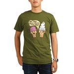 Cool Ice Cream Organic Men's T-Shirt (dark)