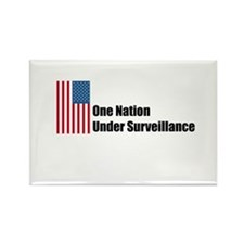One Nation Under Surveillance Rectangle Magnet (10