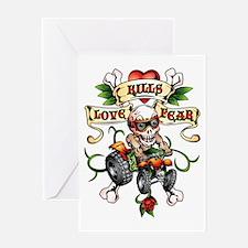 Love Kills Fear ATV Quad Greeting Card