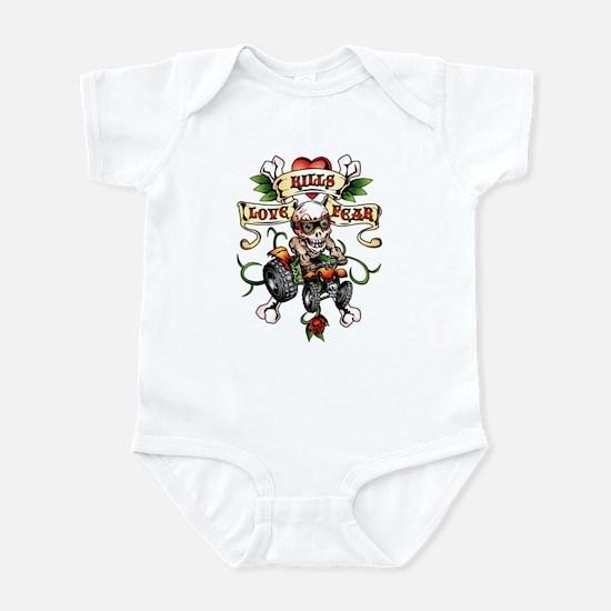 Love Kills Fear ATV Quad Infant Bodysuit