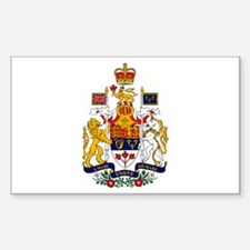 Canadian Coat of Arms Rectangle Decal