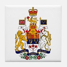 Canadian Coat of Arms Tile Coaster