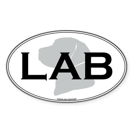 LAB Oval Sticker