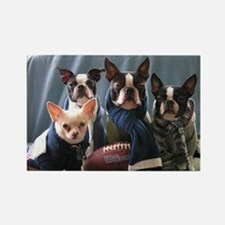 Football Dogs Rectangle Magnet