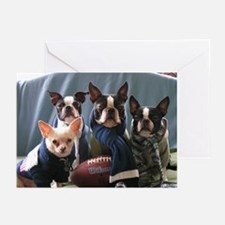 Football Dogs Greeting Cards (Pk of 10)