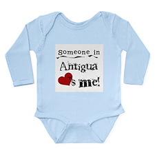 Someone in Antigua Long Sleeve Infant Bodysuit