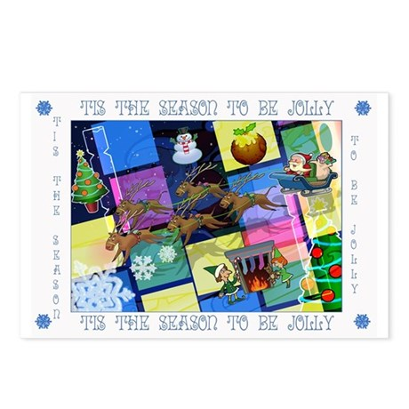 TIS THE SEASON GRAPHIC Postcards (Package of 8)