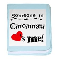 Cincinnati Loves Me Infant Blanket