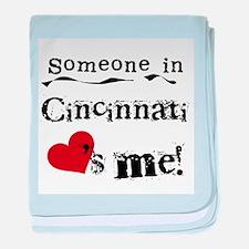 Cincinnati Loves Me Infant Blanket