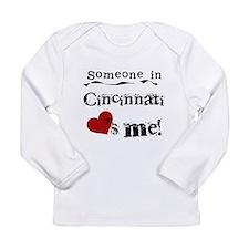 Cincinnati Loves Me Long Sleeve Infant T-Shirt