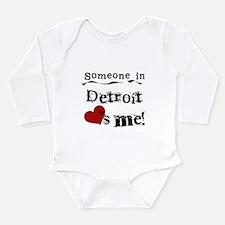 Detroit Loves Me Long Sleeve Infant Bodysuit