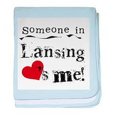 Lansing Loves Me Infant Blanket