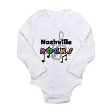 Nashville Rocks Long Sleeve Infant Bodysuit