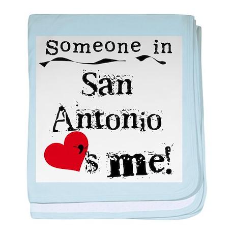 San Antonio Loves Me Infant Blanket