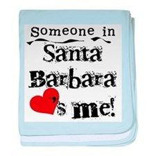 Santa Barbara Loves Me Infant Blanket