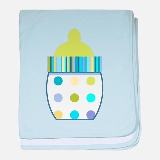 Polka Dot Bottle Infant Blanket