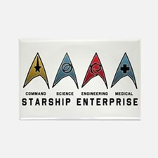 Starfleet Emblems Rectangle Magnet