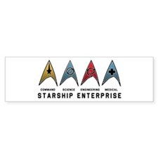 Starfleet Emblems Bumper Sticker