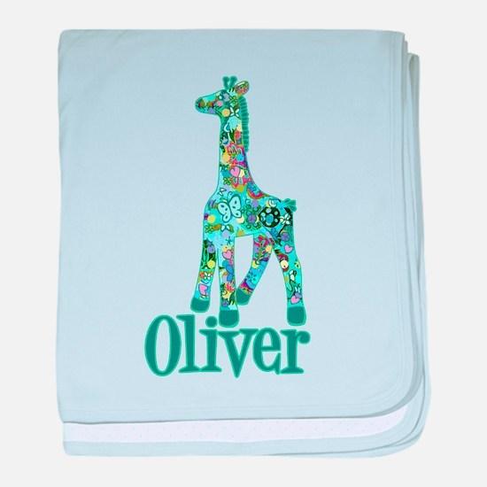 Oliver's Girraffe Infant Blanket
