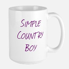 Simple Country Boy Large Mug