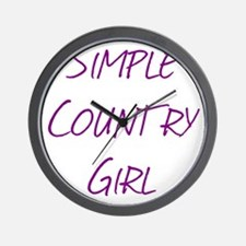 Simple Country Girl Wall Clock
