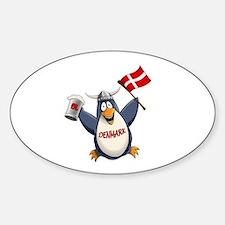 Denmark Penguin Sticker (Oval)
