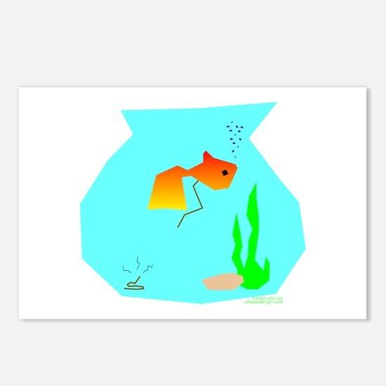 Fish Make Poopie! Postcards (Package of 8)