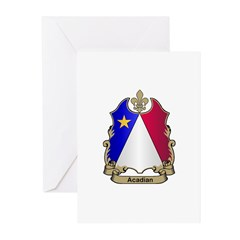 Acadian Shield Greeting Cards (Pk of 10)