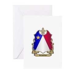Acadian Shield Greeting Cards (Pk of 10)