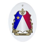 Acadian Shield Oval Ornament