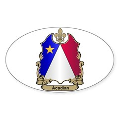 Acadian Shield Oval Decal