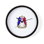 Acadian Shield Wall Clock