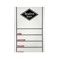 Reading Lines Rectangle Magnet