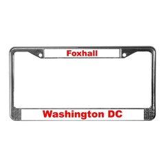 Foxhall License Plate Frame