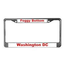 Foggy Bottom License Plate Frame