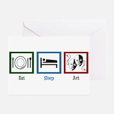 Eat Sleep Act Greeting Cards (Pk of 20)