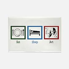 Eat Sleep Act Rectangle Magnet