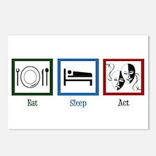 Eat Sleep Act Postcards (Package of 8)