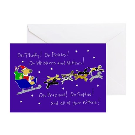 Doggy Claus & Kitty Reindeer Cards (Pk of 10)