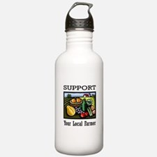 Support Your Local Farmer Sports Water Bottle