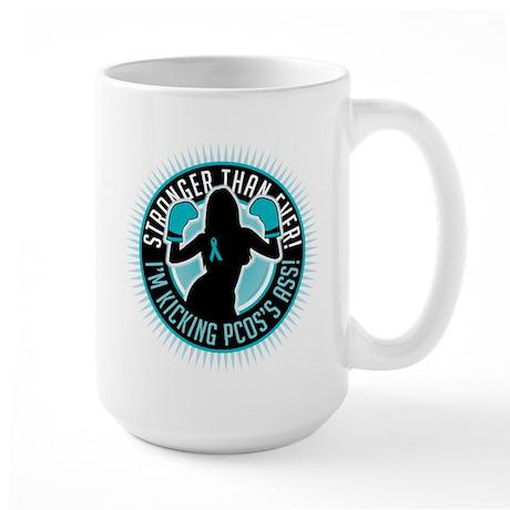 PCOS Boxing Girl Large Mug